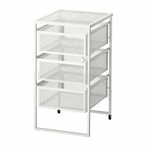 IKEA Filing Drawer Cabinet 3 Drawers File Storage Castor A4 Letter Library Metal