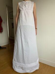 Handmade Regency style 1815 Women petticoat dress sleeveless historical costume