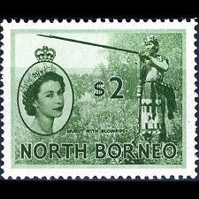 NORTH BORNEO 1954-59 $2 Blowpipe. SG 384. Lightly Hinged Mint. (CA66J)