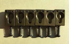 Vintage Strat Brass Bridge Pieces from Stars Guitars/Alembic-mid '70s w/Stickers
