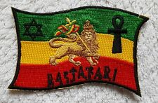 RASTA FLAG PATCH Cloth Badge/Emblem Lion of Judah Rastafarian Irie Jah Africa