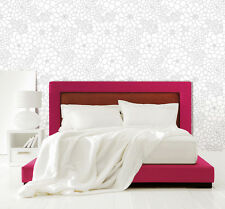 Tapete selbstklebend hellgraue Blumenblüte Blumen Design abwischbar Vinyltapete