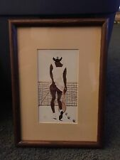 3 Annie Lee Framed and Matted Prints 8 1/2 NARROW, SECOND SET, JUMPING THE BROOM