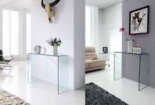 Glass Modern Console Tables without Assembly Required