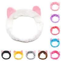 Women Lady Girls Cute Cat Ear Soft Hair Band Wrap Headband Bath Wash Spa Make Up
