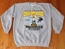 2003 Big Ten Champions Michigan Wolverines Football Sweatshirt Men LARGE L Gray