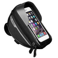 Bike Front Frame Touch Screen Waterproof Phone Bag Top Tube Pannier (Black) R1BO