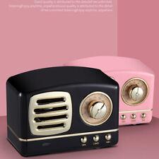 New Retro Bluetooth Speaker Vintage Wireless Stereo Support FM Radio TF Card
