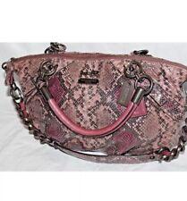 COACH 15928 Madison Sophia Purple Snake Embossed Convertible Satchel $698
