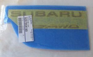 2016 Subaru WRX STi Black Rear Liftgate Trunk Emblem Nameplate 93079VA180 Oem