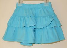 New With Tags Hanna Andersson Blue Ruffle Skirt ~  Sz 110 / 4-6 year