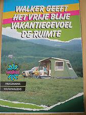 Walker caravanes brochure 1987 texte néerlandais