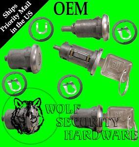 Chevy GMC G Van Full Size 71-78 Ignition & Door Lock Key Cylinder Set 2 GM Keys