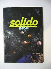 CATALOGUE SOLIDO 1980-81 KIT RALLYES CIRQUE AMAR MILITAIRE TONERGAM COFFRETS