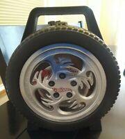 Mattel Tara Toy Company Hot Wheels Tire Shaped 15 Car Carrier Case No Cars