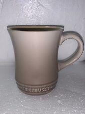 LE CREUSET Coffee MUG CUP Taupe Stoneware