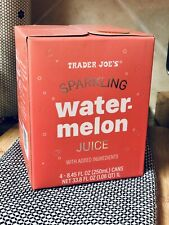 Trader Joe's Sparkling Watermelon Juice NEW 4-pack Sealed In Box Soda Drink