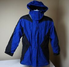 The NORTH FACE Womens Blue Extreme Light Ski Jacket Coat Sz 14 Large Hooded