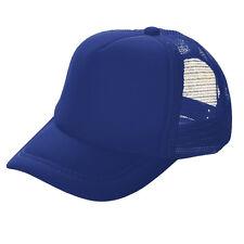 Hombre Mujer Malla Gorra Béisbol Camionero Liso Tenis Visera Sombreros