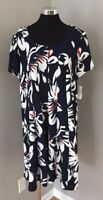Signature By Robbie Bee Navy Floral Sun Dress Women's Size 3X NWT