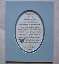STEPSON Son GOD MADE Gift Beyond Compare LOVE Loyal FRIEND verses poems plaques