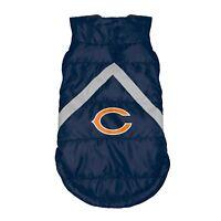 Chicago Bears NFL Little Earth Production Dog Pet Puffer Vest Sizes S-3XL