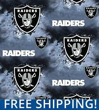 """Oakland Raiders NFL Fleece Fabric - 60"""" Wide - Style# 6340 - Free Shipping!!"""