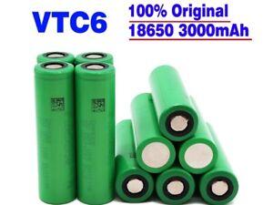 4 Stück Li-Ionen Akku VTC6 | 3,7V 3000mAh 30A für E-Zigaretten Shisha