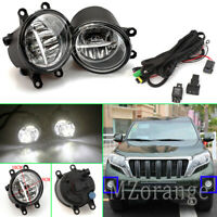 2x LED Fog Light Lamp Wiring For Toyota C-HR Coaster Fortuner Land Cruiser Prado
