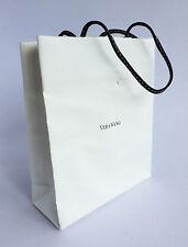 Vera Wang Borsa regalo di carta bianca con manici in pelle - 153 x 127 x 50mm (VPU229)
