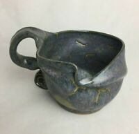 New Handmade Hand Thrown Pottery Stoneware Large Mug Signed Artist Free form 228