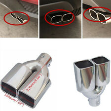 "1X 63mm 2.5"" Stainless Steel Inlet Car Tail Rear Pipe Tip Muffler Cover Perfect"