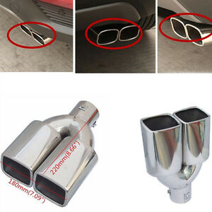 """Attractive 2.5""""Stainless Steel Inlet Car Tail Rear Pipe Tip Muffler Cover Silver"""