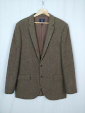 J. Crew Men's 44 L 44L Brown Wool Herringbone Blazer Sport Coat Jacket 44 Long