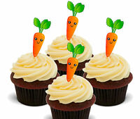 Carrot Cake! Edible Cupcake Toppers, 24 Fairy Bun Decorations Bake Off Cake Sale