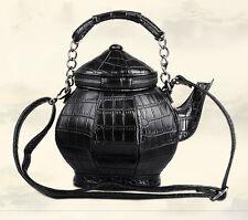 Fashion Amliya Chinese Unique Teapot Tea Kettle Shape Handbag Women Purse Bag