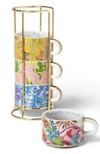 LILLY PULITZER stacking espresso mugs/cups in stand TARGET XXO 5 pc set NEW