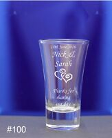 Personalised Engraved 60ml conicalShot Glass Wedding favors for guests Hen Night