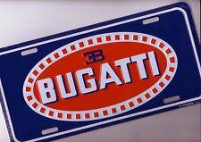 Bugatti Blech Schild 31,5x15cm USA Sign Auto Kennzeichen Car sign  Booster Plate