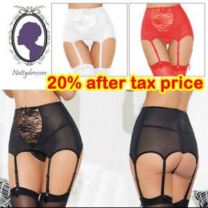 Women Sexy Lingerie Belt Garter Stocking High Waist Lace Suspender Set Plus Size