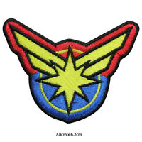 Captain Marvel Super Hero Movie Embroidered Patch Iron on Sew On Badge