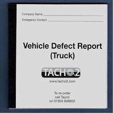 TACHO2 - Vehicle Defect Book - TRUCK - 30 set -2 part duplicate NCR - 1 book