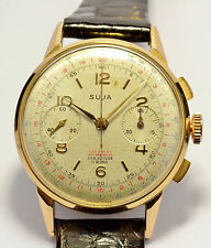 MONTRE ANCIENNE CHRONOGRAPHE SUISSE OR 18K750 VENUS 188 VINTAGE CHRONOGRAPH