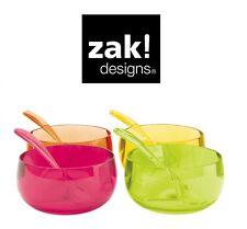 Zak design Stacky dessert bol et cuillère Lot de 8 Set extérieur