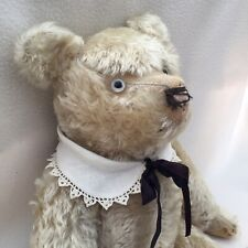 """Large Antique Teddy Light Beige Fully Jointed Beautiful Mohair 22"""""""