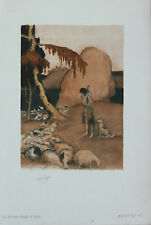 Abel Pann Lithographie Genesis Bible Judaïca Jewish Art juif Israël Palestine 17