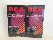 RCA T-120 HI-FI Stereo VHS Blank Video Tape Cassette Vintage Sealed NIP Lot Of 2