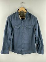 Timberland Men's Vintage Long Sleeve Casual Outdoor Shirt - Size Large Blue