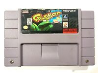 Frogger - Fun SNES Super Nintendo Game - Tested & Working!