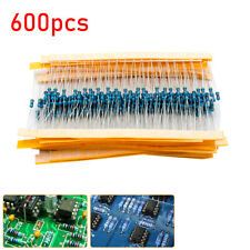Metallica Resistenza Resistori  1/4w 1% 10Ω-1M 30 Valori Pellicola di Kit 600pcs